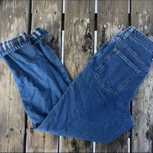 Vintage LL Bean Flannel Lines Original Fit Jeans